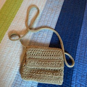 The Sak - Tan Crochet Woven Purse